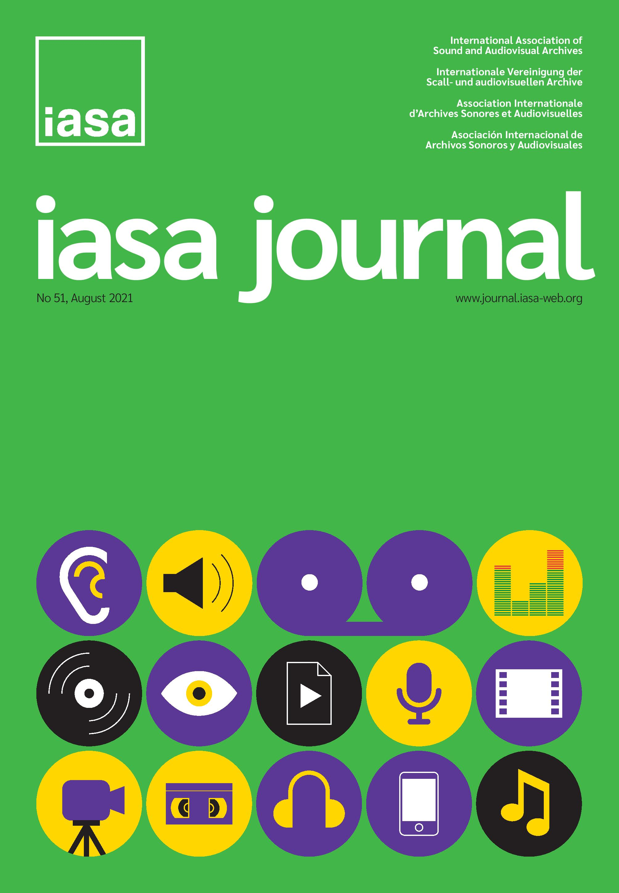 IASA Journal, Issue 51, Cover