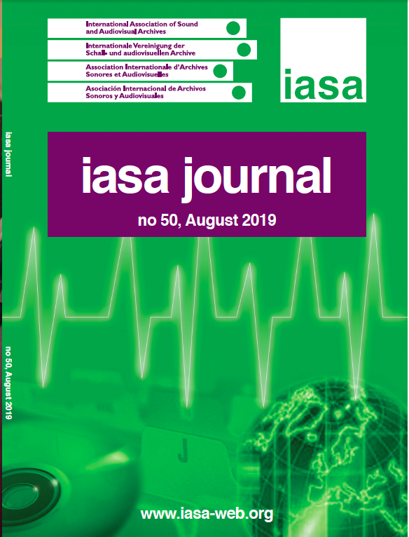 IASA Journal, Issue 50, Cover